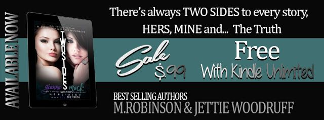 Book Sale ends TODAY!!  Hurry over and buy Two Sides by M. Robinson & Jettie Woodruff for only $0.99!!  Fabulous and Brunette: Two Sides by M. Robinson & Jettie Woodruff - Book ...