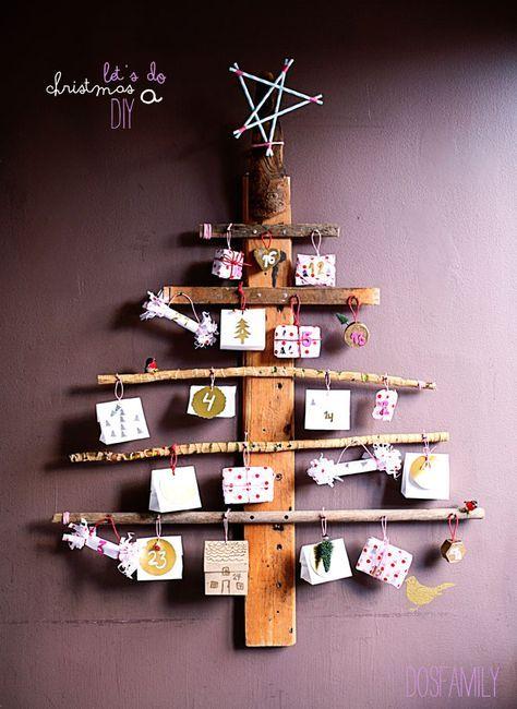 christmas diy, christmas calendar diy, christmas calendar, driftwood, driftwood diy, diy, dosfamily, isabelle mcallister, julkalender, gör din egen, kalender, christmas star, star, straw, sugrör, pink, parcel, christmas gifts, pink, gold, nyhetsmorgon.
