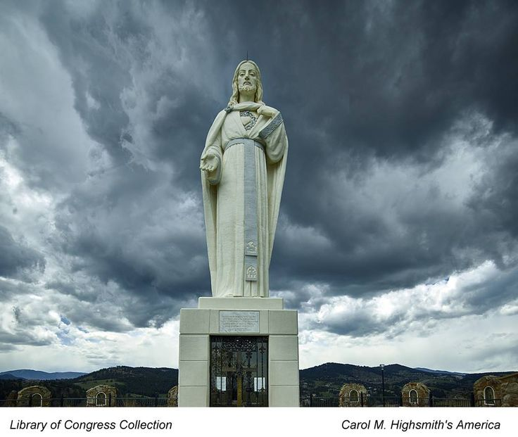 Statue of Jesus at the Mother Cabrini Shrine in Golden, Colorado