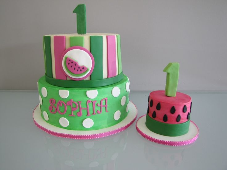 Watermelon Birthday Cake Watermelon Birthday Cake #top-cakes #watermelon #cakecentral