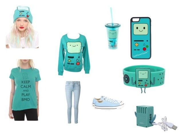 """""""BMO!!! (Adventure time #1)"""" by pugshugs on Polyvore featuring CellPowerCases, Frame Denim and Converse"""