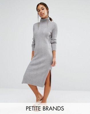 Vero Moda Petite Roll Neck Midi Dress