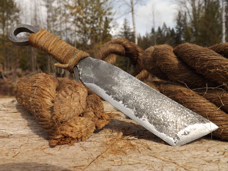 Hand Forged File Knife by ManleyCreekForge on Etsy