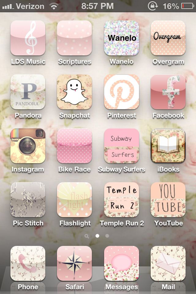 Customized iPhone! Do it yourself with the app Cocoppa - I LOVE this app! It doesn't have all the icons for the Apple apps (calculator, contacts, phone...), but has almost all other apps and even some Apple apps. My phone is so cute!