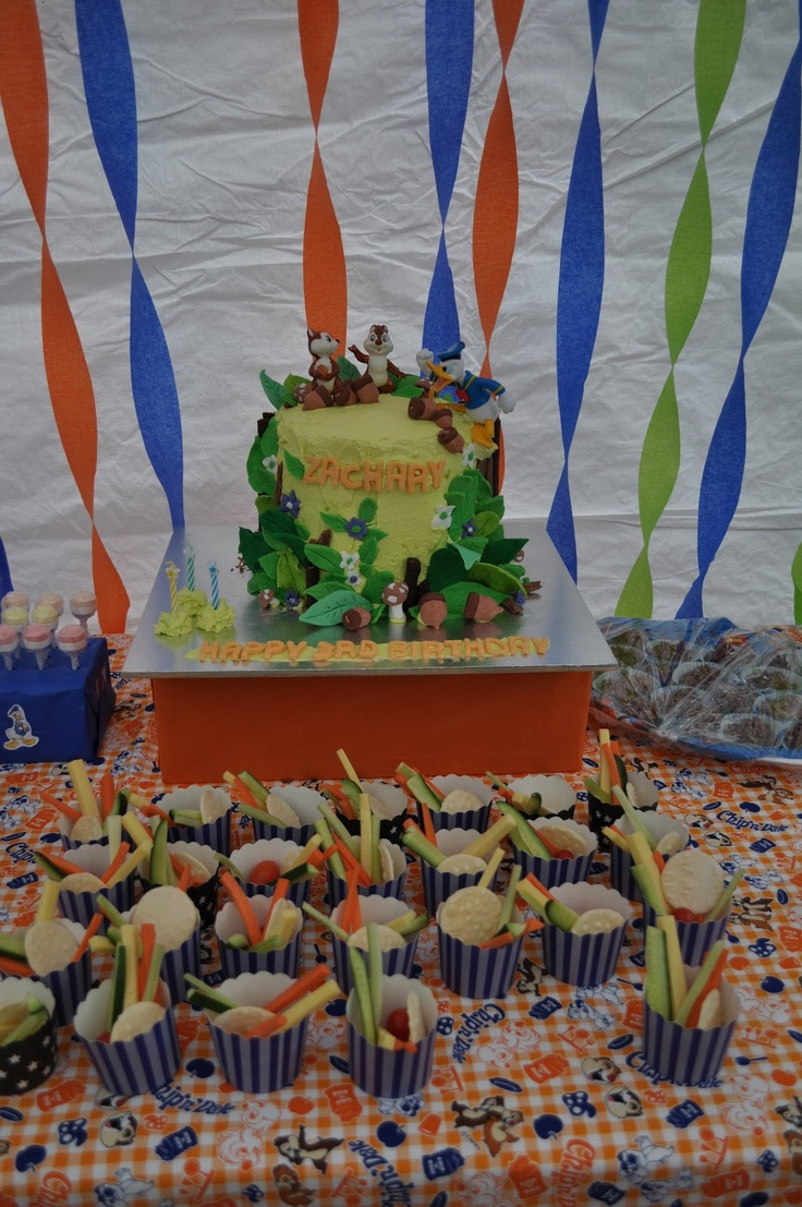 Zachary's 3rd Birthday - Donald Duck and Chip'n' Dale theme