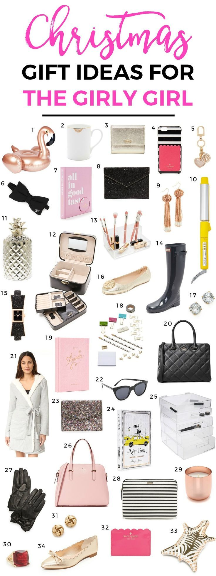 The ultimate list of Christmas gift ideas for the girly girl in your life! This fun Christmas gift guide for women is filled with classy and feminine gifts in every price range + learn about the Black Friday and Cyber Monday sale at Shopbop! @shopbop