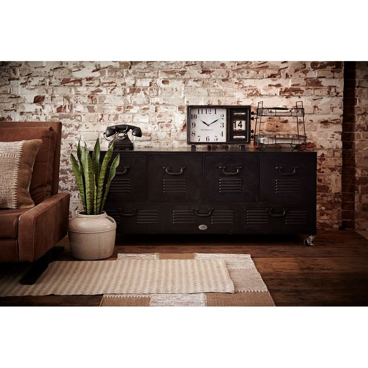 Riverdale Vintage Dressoir 132 cm - Zwart
