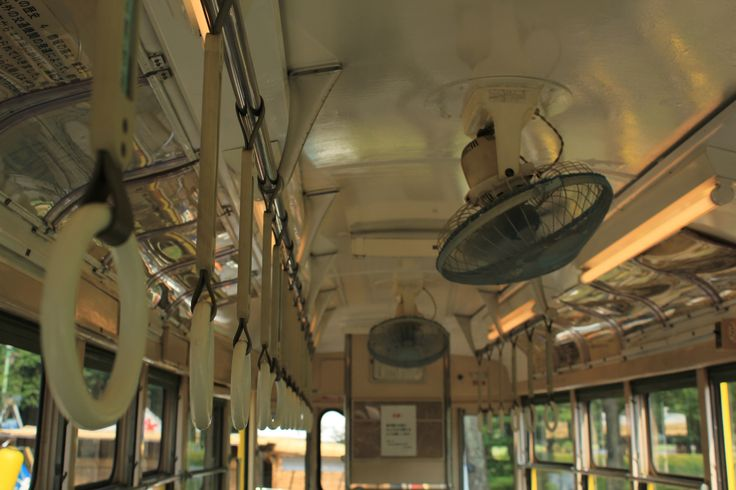 japanese retro style tram inside, Edo-tokyo Tatemonoen, Tokyo