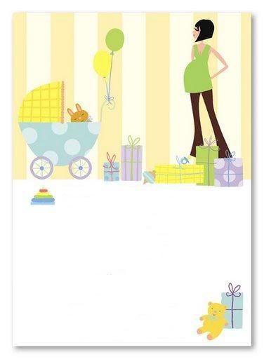 Embarazadas: tarjetas para imprimir gratis.