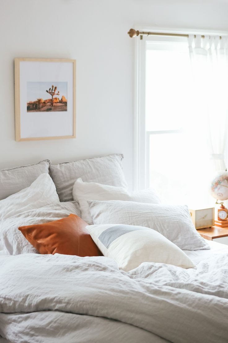 Pop of copper in bedroom
