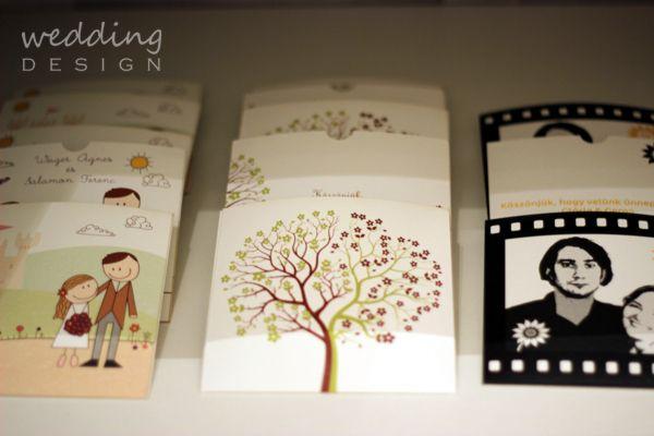 CD case with the invitation card graphic for wedding favour - CD tok a meghívó grafikájával köszönetajándékba