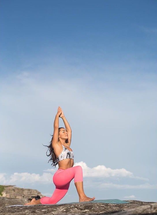 Vanessa from Soul Flow Yoga wearing our limited activewear down Bondi beach 🙏🏼 www.neyku.com