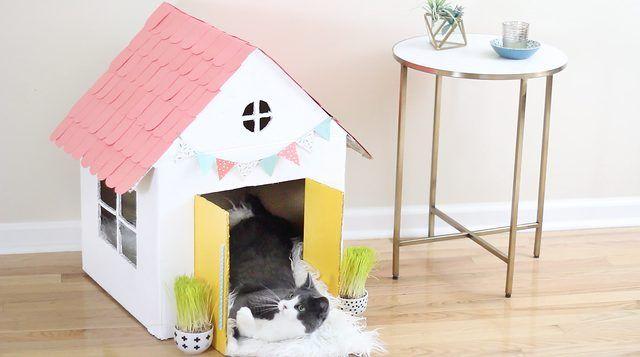 Best 25 Cardboard Cat House Ideas On Pinterest Diy Toys