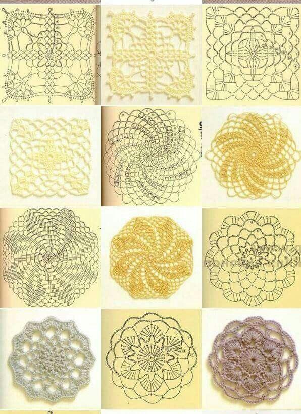 2072 mejores im genes sobre adoro crochet en pinterest - Aplicaciones de crochet para colchas ...