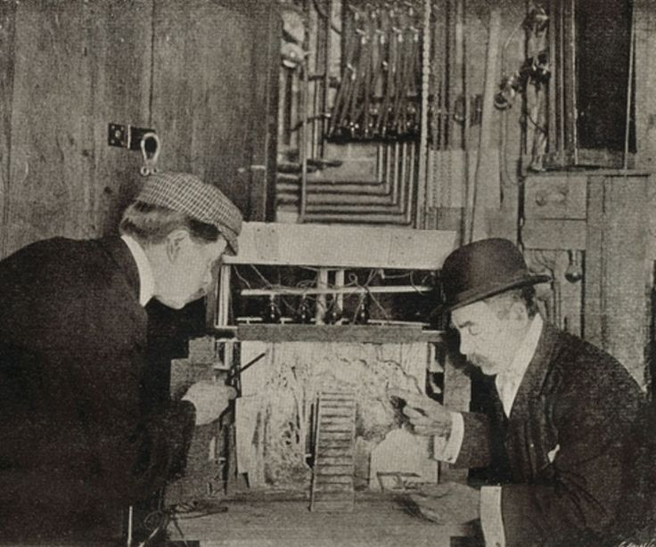 Behind the scenes at the London Hippodrome - stage model for the Christmas entertainment, 1904