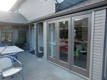 Bifold Exterior Doors   Exterior Paint Grade French Triple Cantilever  Folding System   Modern .