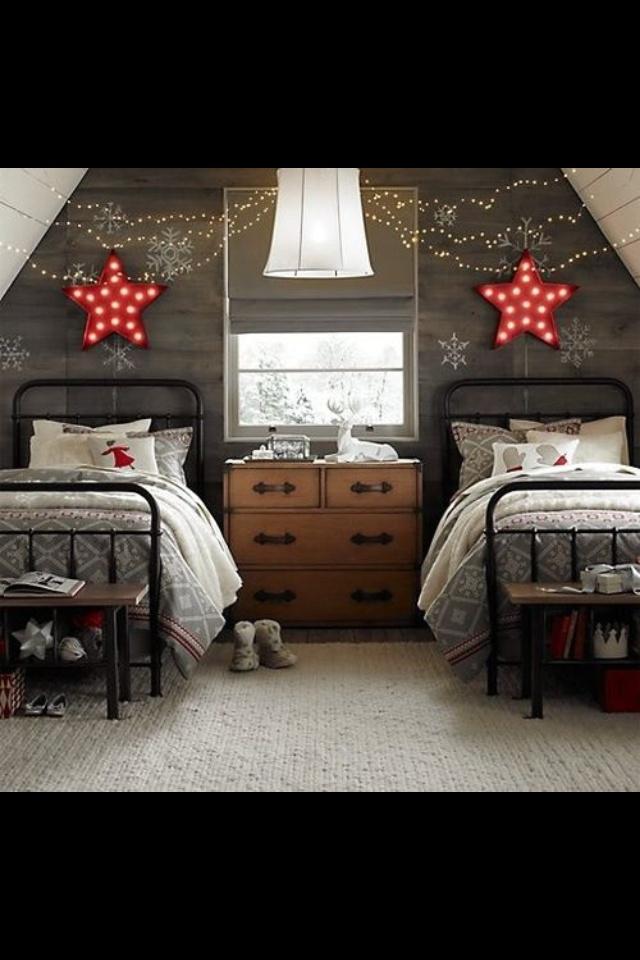 attic bedroom, would be cute kids room