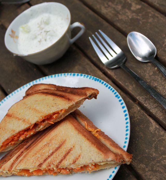 Vegetarian Toasts / carrots / Tofu / sesame. #Toast végétarien carottes, tofu soyeux et sésame