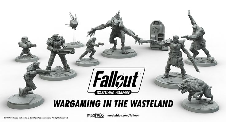A Fallout tabletop game is on the way - Polygonclockmenumore-arrowpoly-lt-wire-logo : Fallout: Wasteland Warfare features art from Fallout 4
