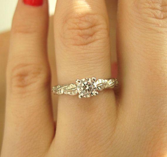 Leaf Engagement Ring Engagement Ring Antique Engagement by Benati