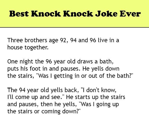 Best Knock Knock Joke Ever Wititudes Knock Knock Jokes Jokes Knock Knock