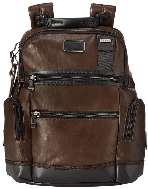 Tumi Alpha Bravo - Knox Leather Backpack Backpack Bags