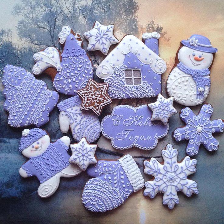 Purple Christmas cookies