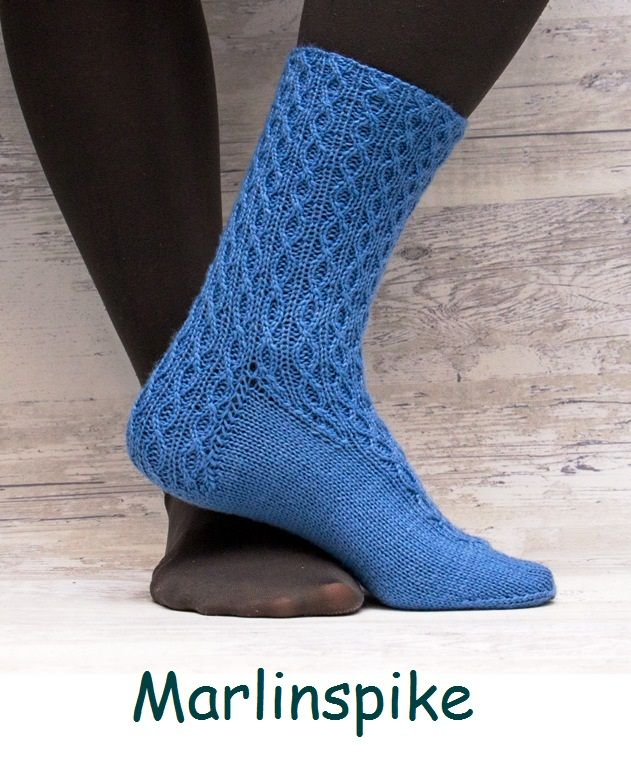 Marlinspike. A sock design with a nautical theme.