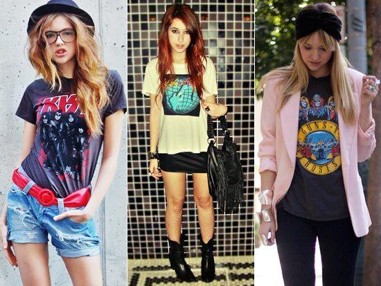 As camisetas de banda de rock femininas além de demonstrarem muito estilo e personalidade, podem compor looks super legais.