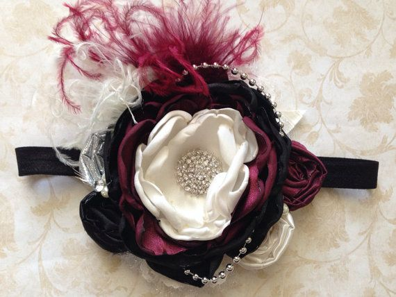 Black Magic over the top bow by ChloeRoseCouture on Etsy