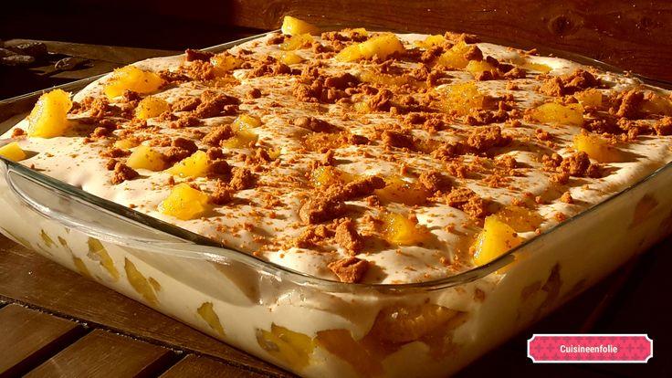 Tiramisu+à+l'ananas+flambé+au+rhum,++éclats+de+spéculos