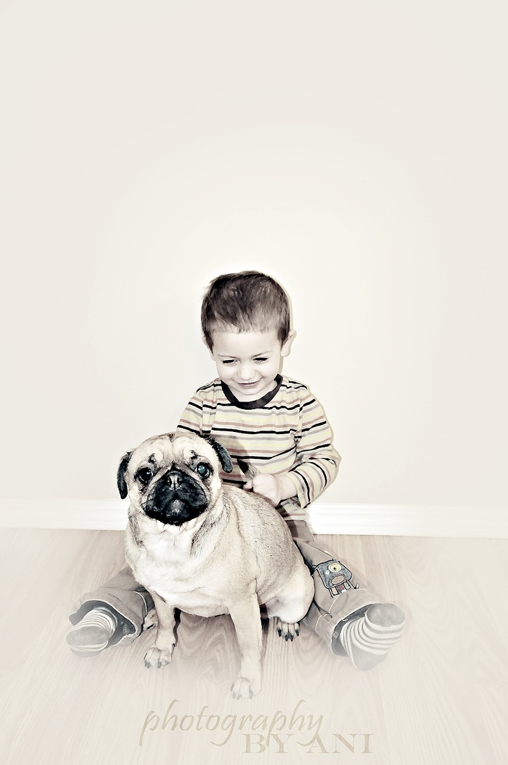 Our baby and our dog.