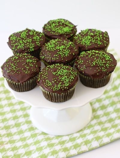 Chocolate Zucchini Cupcake Recipe on twopeasandtheirpod.com You will never know there is zucchini in these rich chocolate cupcakes!