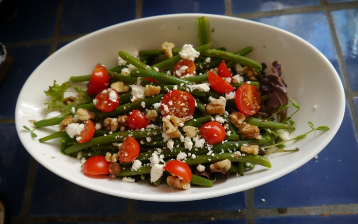 Haricots Verts salad with chèvre and walnuts | Friday Foodie from ...