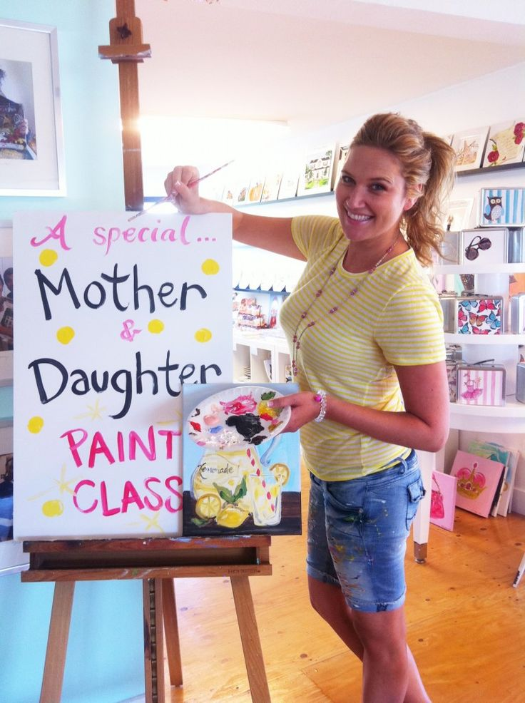 mother daughter paint night | Mother & Daughter Lemonade Paint Party*