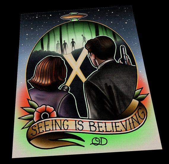 X files seeing is believing tattoo flash