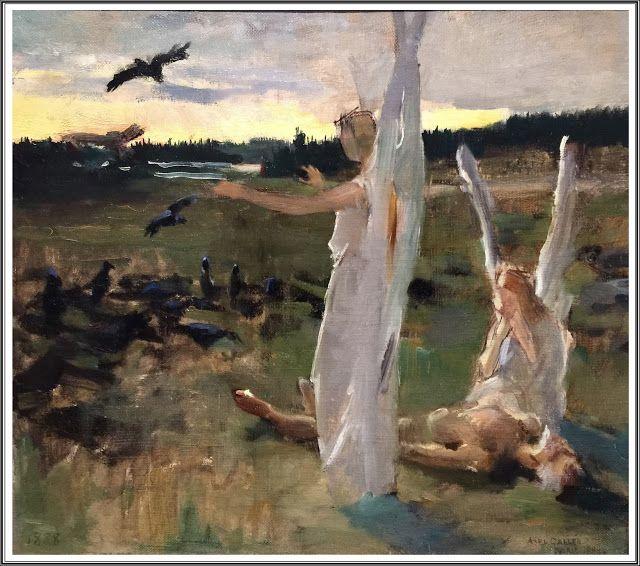 Akseli Gallen-Kallela (1865-1931), Anges Gardiens et Corbeaux - 1888