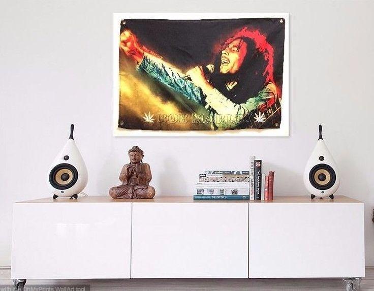 Reggae style, CooL poster art style, BoB rasta Marley Fabric poser Banner art