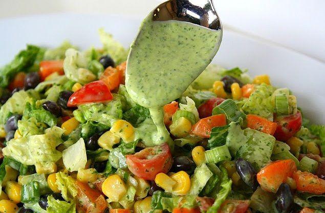 evening bag Southwestern Chopped Salad with Cilantro Dressing