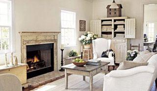 cottage stijl haardvuur