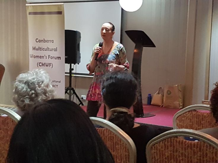Ms Gai Brodtman MP addressing the forum partnered with the Canberra Multicultural Women's Forum and us to conduct seminars on women's leadership.