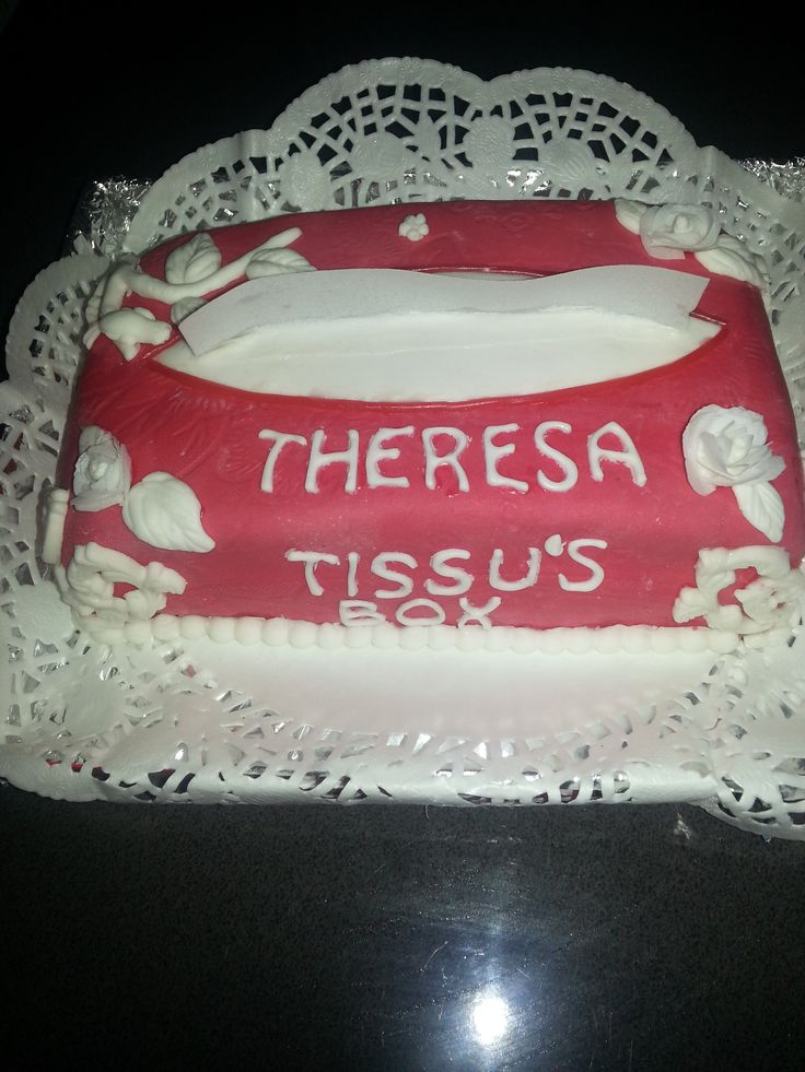 tissue doos taart