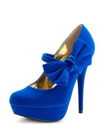 Blue Bow Heels | Tsaa Heel