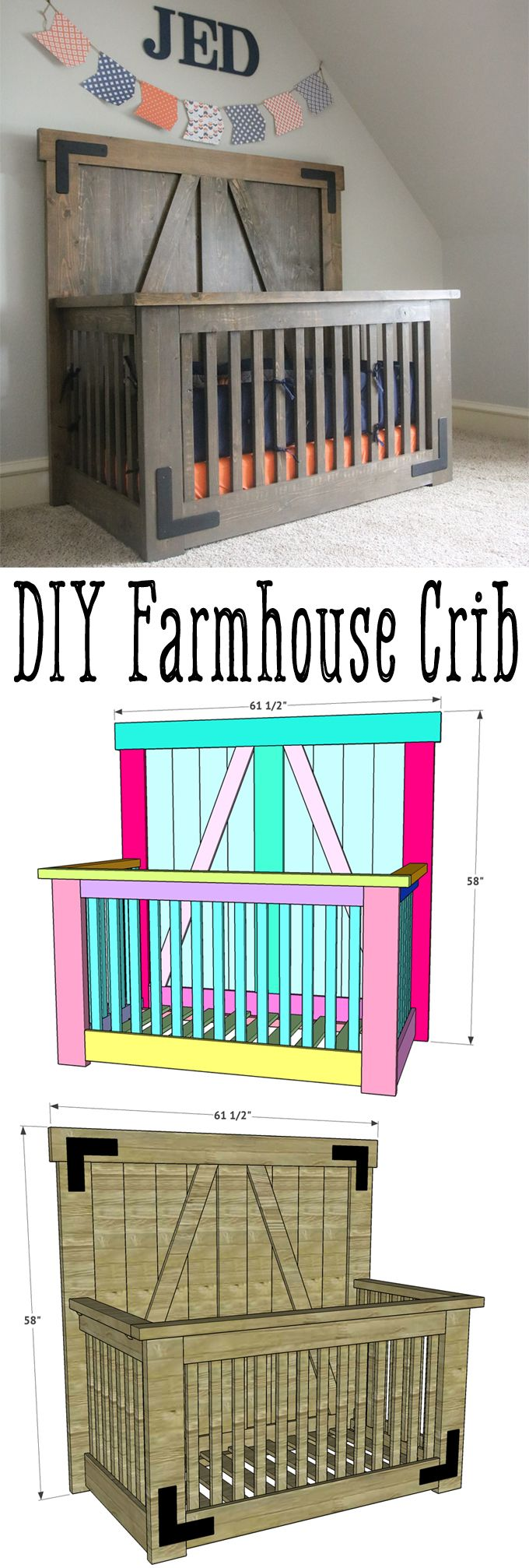 Used crib for sale atlanta - Love This Diy Farmhouse Crib By Shanty2chic Free Plans And Tutorial On How To Build