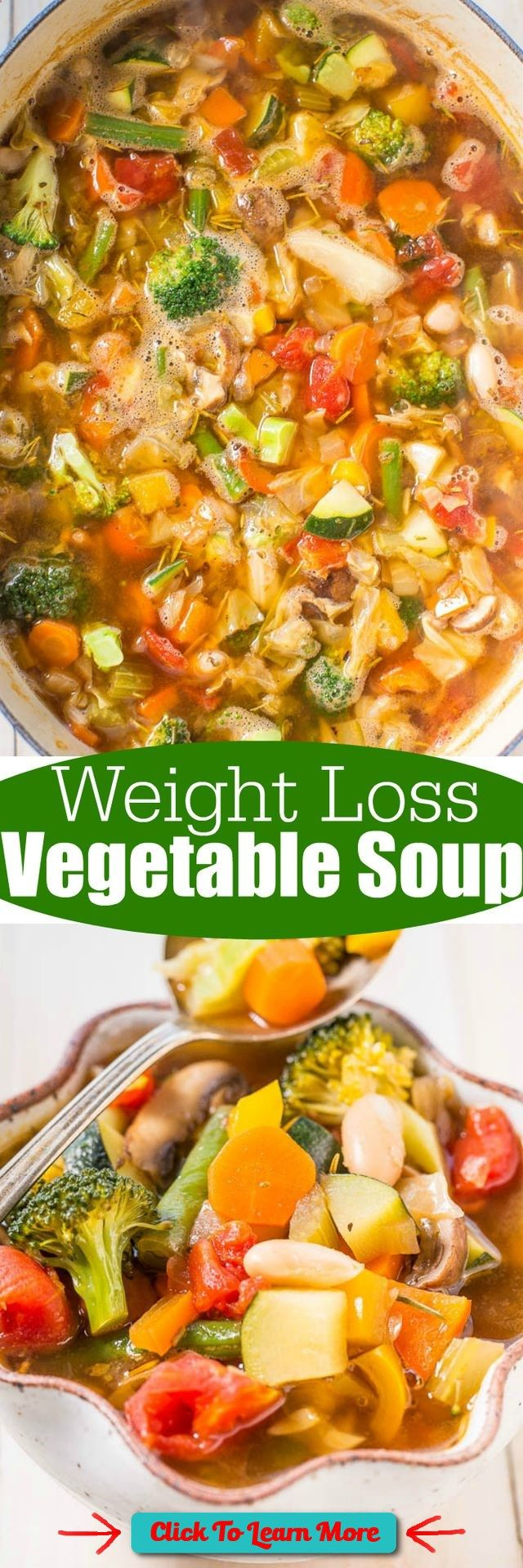 #FastestWayToLoseWeight by EATING, Click to learn more, How are those New Year's resolutions going? This soup will help anyone who's fallen off the wagon, or who never got on the wagon, get back on. It may not be a magic bullet for weight loss, but it's a , #HealthyRecipes, #FitnessRecipes, #BurnFatRecipes, #WeightLossRecipes, #WeightLossDiets
