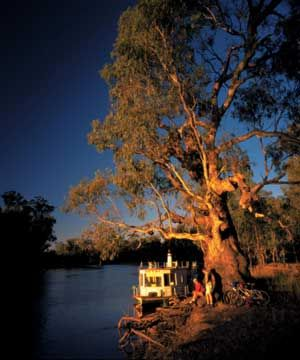 Sunset on the Murray River.