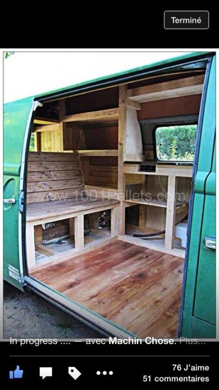 Refurbished VW T2 High Roof with pallets | 1001 Pallets
