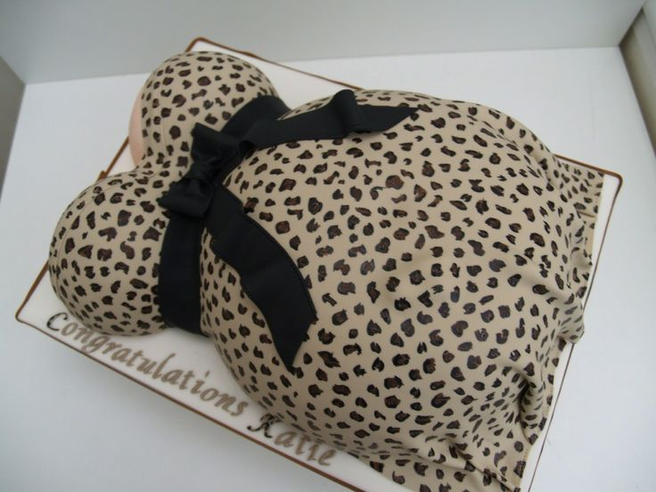 amazing baby shower cakes images | Amazing Cakes Chester » Blog Archive » Leopard print baby bump cake ...