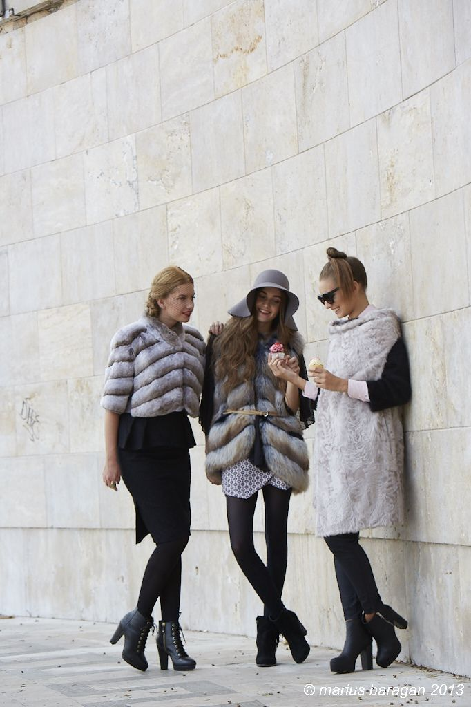 Sweet complicity & so chic furs... <3