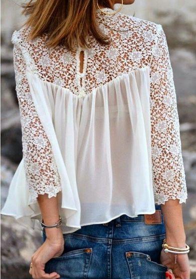Przewiewna bluzka z koronką. Klik w zdjęcie, a przejdziesz do sklepu :)